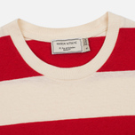 Женская футболка Maison Kitsune Stripes Ecru/Red фото- 1