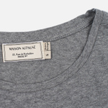 Женская футболка Maison Kitsune Tricolor Fox Patch Grey Melange фото- 3