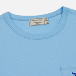 Женская футболка Maison Kitsune Tricolor Fox Patch Light Blue фото- 1