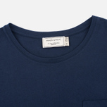 Женская футболка Maison Kitsune Tricolor Fox Patch Navy фото- 1
