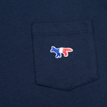 Женская футболка Maison Kitsune Tricolor Fox Patch Navy фото- 3