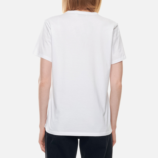 Женская футболка Maison Kitsune Tricolor Fox Patch White