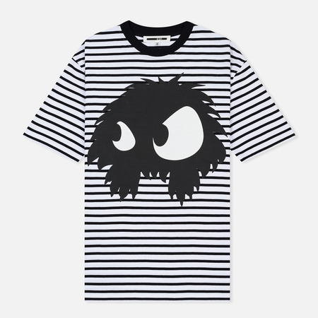 Женская футболка McQ Alexander McQueen Boyfriend Mad Chester Stripe Black/White