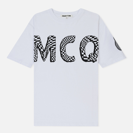 Женская футболка McQ Alexander McQueen Boyfriend MCQ Font Optic White