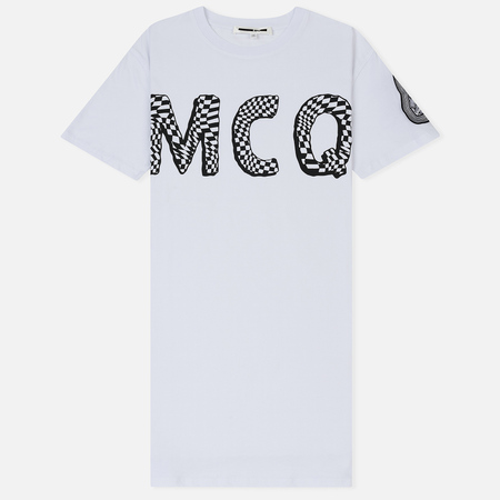 Женская футболка McQ Alexander McQueen Slouchy MCQ Font Optic White