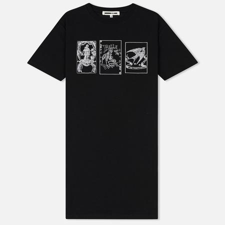 Женская футболка McQ Alexander McQueen Slouchy Tarot Cards Darkest Black