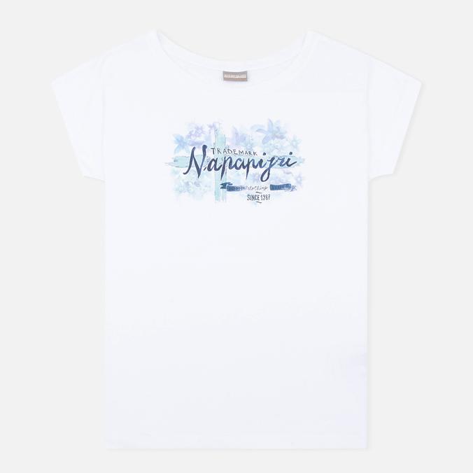 Женская футболка Napapijri Sambada Fantasy 2 White
