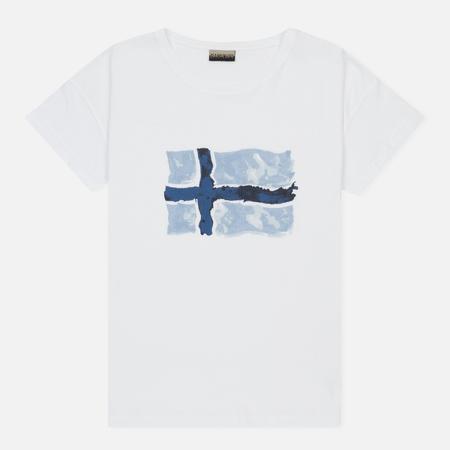 Женская футболка Napapijri Sebhi Fantasy White/Pastel Blue