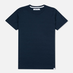 Женская футболка Norse Projects Gro Mercerised Cotton Dark Navy фото- 0