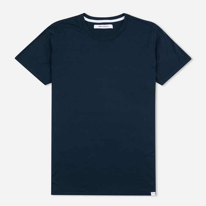 Женская футболка Norse Projects Gro Mercerised Cotton Dark Navy