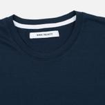 Женская футболка Norse Projects Gro Mercerised Cotton Dark Navy фото- 1