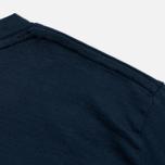 Женская футболка Norse Projects Gro Mercerised Cotton Dark Navy фото- 3