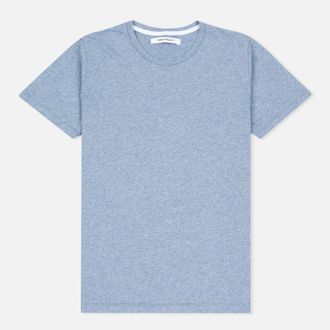 Женская футболка Norse Projects Gro Mercerised Cotton Pale Blue Melange