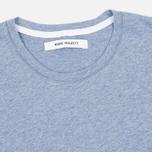 Женская футболка Norse Projects Gro Mercerised Cotton Pale Blue Melange фото- 1