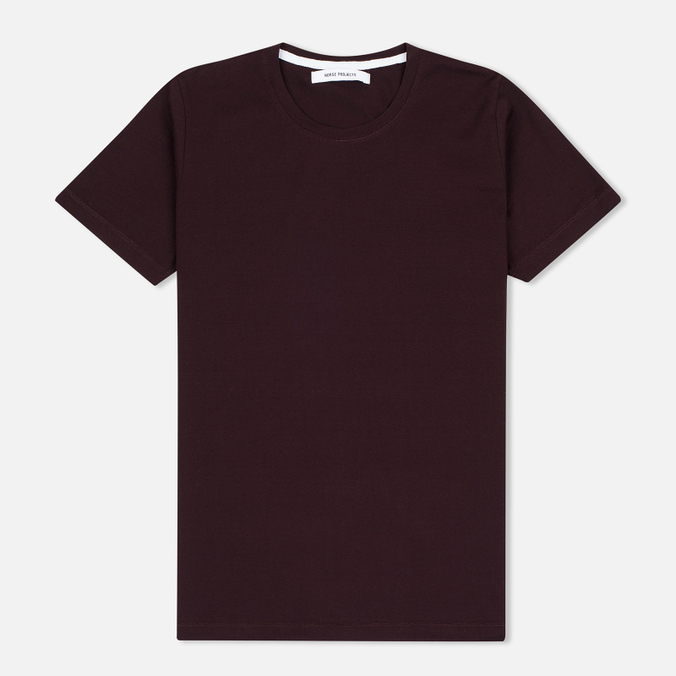Женская футболка Norse Projects Gro Mercerised Cotton Plum