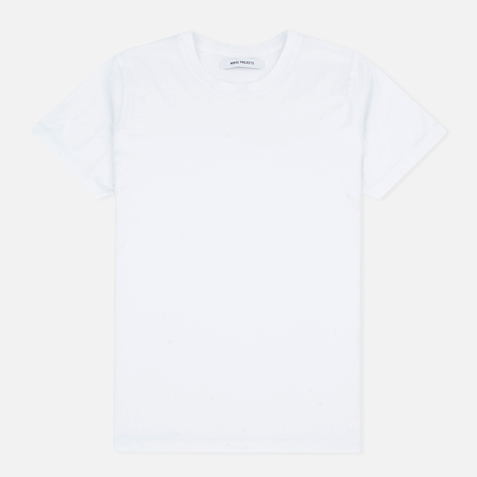 Женская футболка Norse Projects Gro Mercerised Cotton White