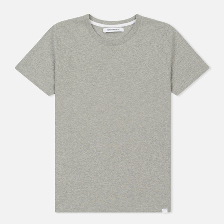 Женская футболка Norse Projects Gro Standard Mid Grey Melange