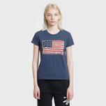 Женская футболка Polo Ralph Lauren American Flag Print Classic Royal фото- 1
