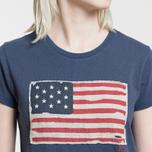 Женская футболка Polo Ralph Lauren American Flag Print Classic Royal фото- 2