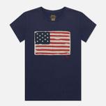 Женская футболка Polo Ralph Lauren American Flag Print Classic Royal фото- 0