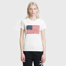 Женская футболка Polo Ralph Lauren American Flag Print Nevis фото- 1