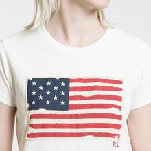 Женская футболка Polo Ralph Lauren American Flag Print Nevis фото- 2