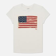 Женская футболка Polo Ralph Lauren American Flag Print Nevis фото- 0
