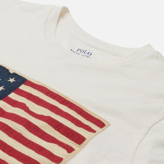 Женская футболка Polo Ralph Lauren American Flag Print Nevis