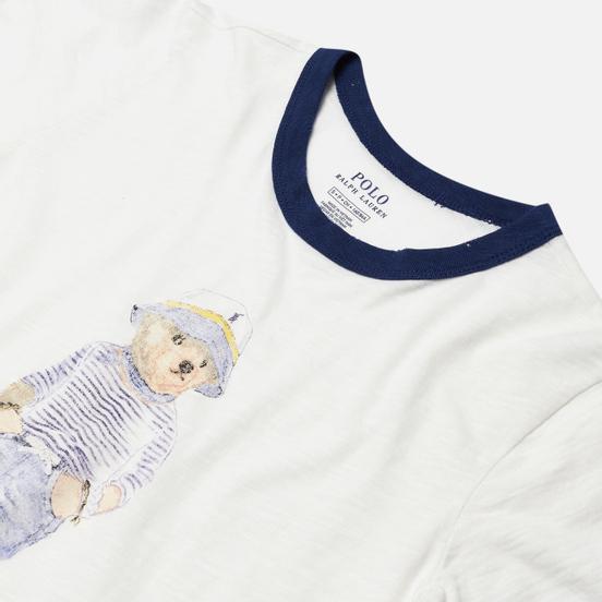 Женская футболка Polo Ralph Lauren Bear 30/'S Uneven Cotton Jersey Nevis