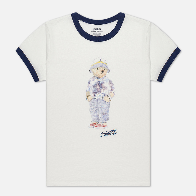 Женская футболка Polo Ralph Lauren Bear 30/'S Uneven Cotton Jersey Nevis