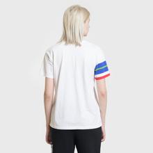 Женская футболка Polo Ralph Lauren Big Polo Print And Stripe Sleeve White фото- 3
