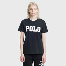 Женская футболка Polo Ralph Lauren Big Polo Print Black фото- 1