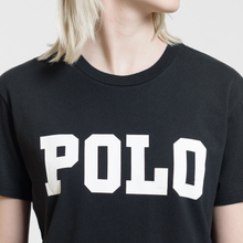 Женская футболка Polo Ralph Lauren Big Polo Print Black фото- 2
