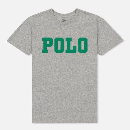 Женская футболка Polo Ralph Lauren Big Polo Print Cobblestone Heather