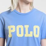 Женская футболка Polo Ralph Lauren Big Polo Print Lake Blue фото- 2