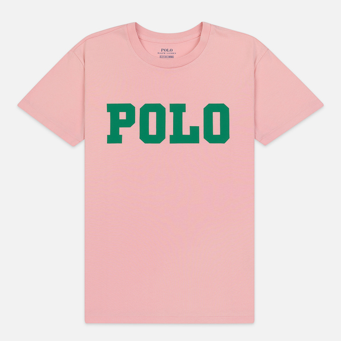 Женская футболка Polo Ralph Lauren Big Polo Print Pink Sand