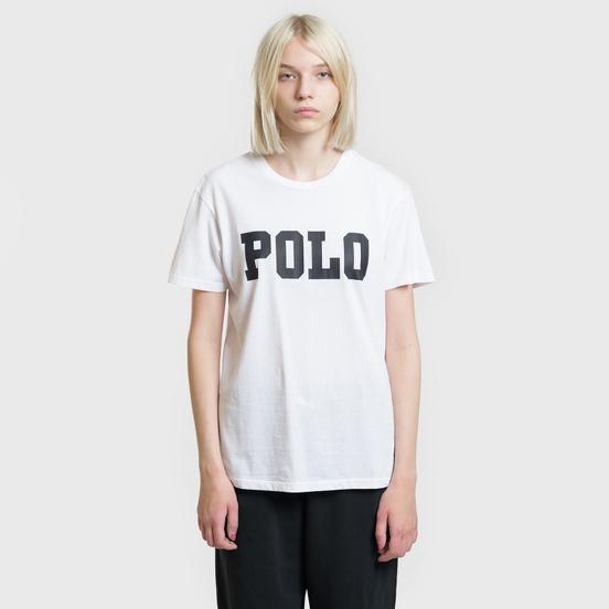 Женская футболка Polo Ralph Lauren Big Polo Print White