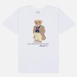 Женская футболка Polo Ralph Lauren Big Teddy Bear In Coat White фото- 0