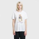 Женская футболка Polo Ralph Lauren Big Teddy Bear In Coat White фото- 1