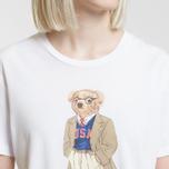 Женская футболка Polo Ralph Lauren Big Teddy Bear In Coat White фото- 2