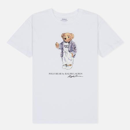 Женская футболка Polo Ralph Lauren Big Teddy Bear White