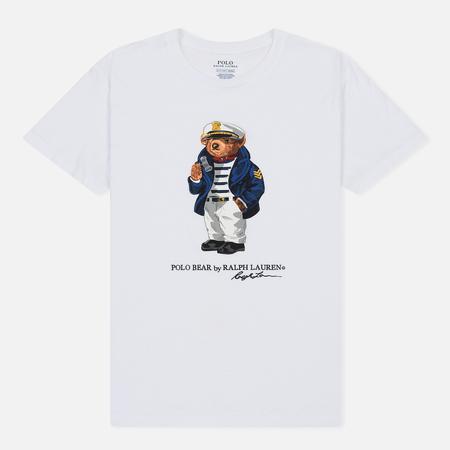 Женская футболка Polo Ralph Lauren Capitan Bear Big White