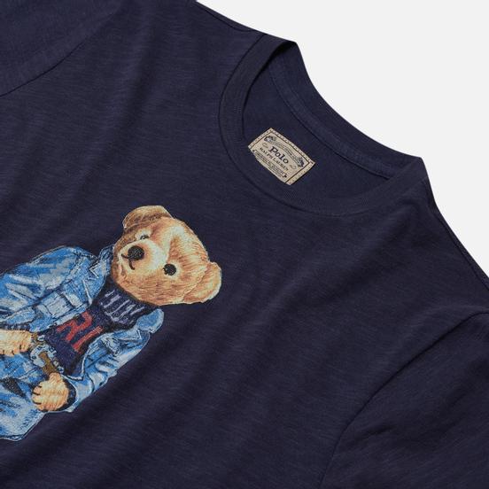 Женская футболка Polo Ralph Lauren Denim Bear 30/'S Uneven Cotton Jersey Classic Royal