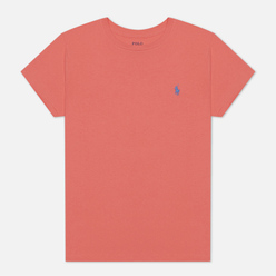 Женская футболка Polo Ralph Lauren Embroidered Logo 30/1 Cotton Jersey Amalfi Red