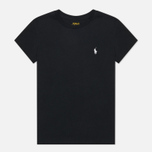Женская футболка Polo Ralph Lauren Embroidered Logo 30/1 Cotton Jersey Black фото- 0