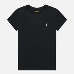 Женская футболка Polo Ralph Lauren Embroidered Logo 30/1 Cotton Jersey Black