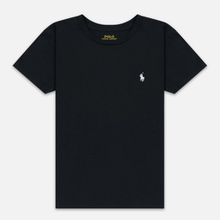 Женская футболка Polo Ralph Lauren Embroidered Logo 30/1 Cotton Jersey Black фото- 0