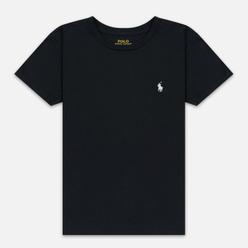 Женская футболка Polo Ralph Lauren Embroidered Logo 30/1 Cotton Jersey Black