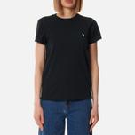 Женская футболка Polo Ralph Lauren Embroidered Logo 30/1 Cotton Jersey Black фото- 1