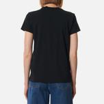 Женская футболка Polo Ralph Lauren Embroidered Logo 30/1 Cotton Jersey Black фото- 3